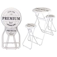 Ambiance Foldable Bar Table with Stools White