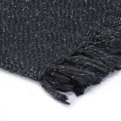 vidaXL Throw Lurex 160x210 cm Anthracite