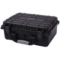 vidaXL Protective Equipment Case 40.6x33x17.4 cm Black