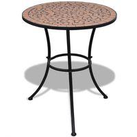 vidaXL Bistro Table Terracotta 60 cm Mosaic