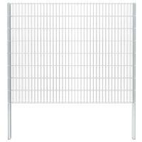 vidaXL 2D Gabion Fence Galvanised Steel 2.008x1.63 m 10 m (Total Length) Silver