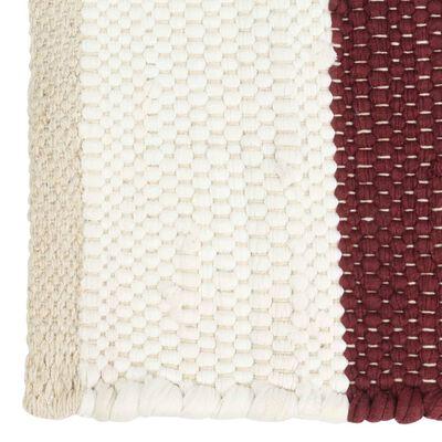 vidaXL Placemats 4 pcs Chindi Stripe Burgundy and White 30x45 cm