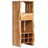 vidaXL Wine Rack Solid Acacia Wood Live Edges 40x40x110 cm