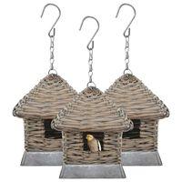 vidaXL Bird Houses 3 pcs Wicker