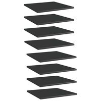 vidaXL Bookshelf Boards 8 pcs High Gloss Black 40x40x1.5 cm Chipboard