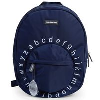 CHILDHOME Kids School Backpack ABC Navy and White