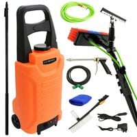 MAXBLAST Window Cleaning Water Fed Trolley 30L & 30ft Cleaning Pole
