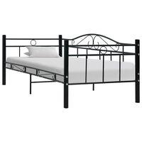 vidaXL Bed Frame Black Metal 90x200 cm