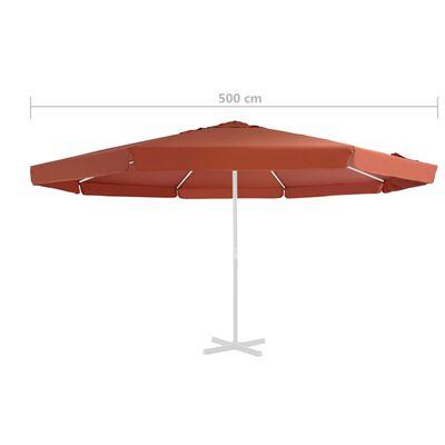 vidaXL Replacement Fabric for Outdoor Parasol Terracotta 500 cm