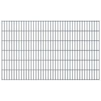 vidaXL 2D Garden Fence Panel 2.008x1.23 m  Grey