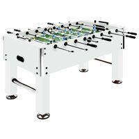 vidaXL Football Table Steel 60 kg 140x74.5x87.5 cm White