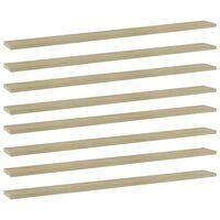 vidaXL Bookshelf Boards 8 pcs Sonoma Oak 100x10x1.5 cm Chipboard