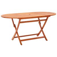 vidaXL Folding Garden Table 160x85x74 cm Solid Eucalyptus Wood