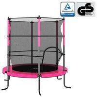 vidaXL Trampoline with Safety Net Round 140x160 cm Pink