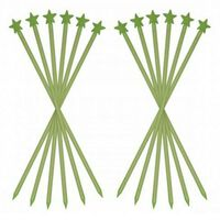 10pcs Garden Glow Stars No Wiring Absorbs Sunlight Glow In The Dark