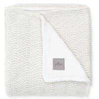 Jollein Blanket River Knit 75x100 cm Fleece Cream White