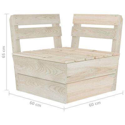 vidaXL 6 Piece Garden Pallet Lounge Set Impregnated Spruce Wood