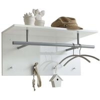 FMD Wall-mounted Coat Rack 72x29.3x34.5 cm White