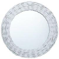 vidaXL Mirror White 50 cm Wicker