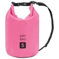 vidaXL Dry Bag Pink 5 L PVC