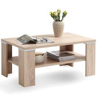 FMD Coffee Table with Shelf 100x60x46 cm Oak