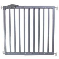 A3 Baby & Kids Safety Gate Oslo 71-102 cm Wood Grey 64635