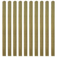 vidaXL 20 pcs Impregnated Fence Slats Wood 140 cm