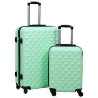 vidaXL Hardcase Trolley Set 2 pcs Mint ABS