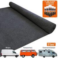 11m2 Van Lining Carpet Adhesive Glue Cans Kit / Anthracite Dark Grey