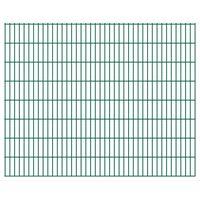vidaXL 2D Garden Fence Panels 2.008x1.63 m 14 m (Total Length) Green