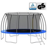 vidaXL Trampoline Set Round 488x90 cm 150 kg