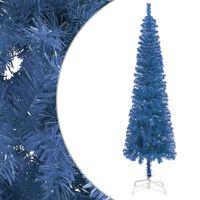 vidaXL Slim Christmas Tree Blue 180 cm