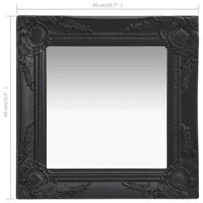 vidaXL Wall Mirror Baroque Style 40x40 cm Black