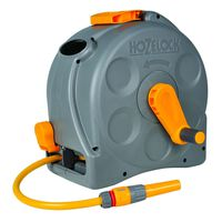 Hozelock Free Standing/Wall Mounted Hose Reel with 25 m Hose Compact Reel