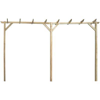 vidaXL Garden Pergola 400x40x205 cm Wood