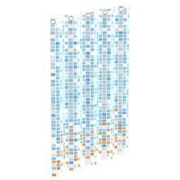 EISL Shower Curtain with Blue-Orange Mosaic 200x180x0.2 cm