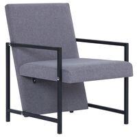 vidaXL Armchair with Chrome Feet Light Grey Fabric