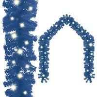 vidaXL Christmas Garland with LED Lights 5 m Blue