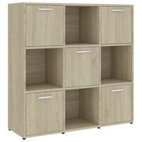 vidaXL Book Cabinet Sonoma Oak 90x30x90 cm Chipboard