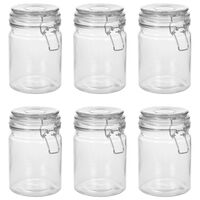 vidaXL Storage Jars with Clip Closure 6 pcs 750 ml