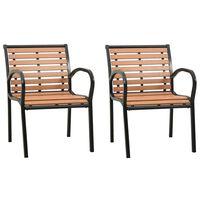 vidaXL Garden Chairs 2 pcs Wood