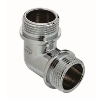 1/2 Inch Male Elbow Pipe Fitting Connection Chrome