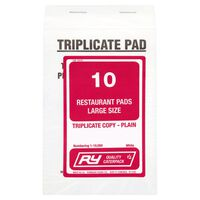 Robinson Young Triplicate Restaurant Pads - 1x10pads