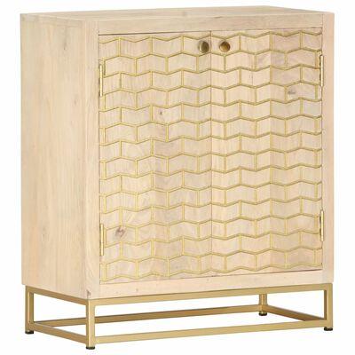 vidaXL Sideboard Gold 60x30x70 cm Solid Mango Wood