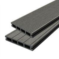 Jardí Composite Decking Boards Edging Wood Plastic / 5 SQM Castle Grey