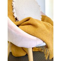 Codu Brighton 100% Nz Wool Mustard Throw