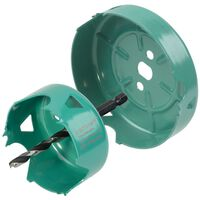 wolfcraft 2 Piece Hole Saw Set Carbon Steel Turquoise 5974000