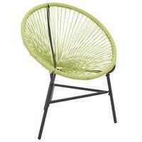 vidaXL Garden Acapulco Chair Poly Rattan Green