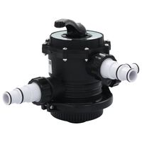 "vidaXL Multiport Valve for Sand Filter ABS 1.5"" 6-way"