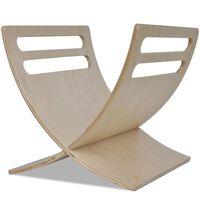 vidaXL Wooden Magazine Rack Floor Standing Natural